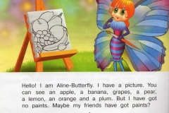 aline butterfly and her picture